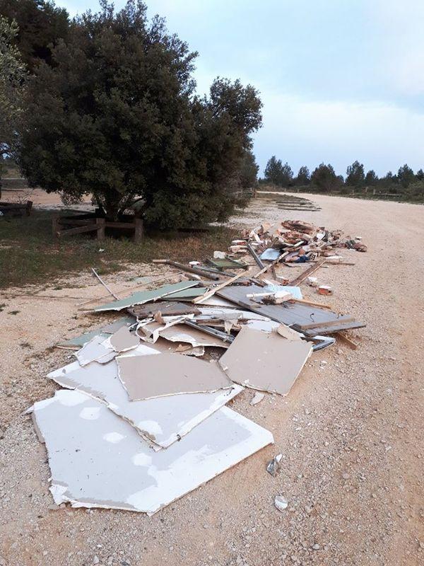 D'autres déchets, dans un autre secteur du Parc