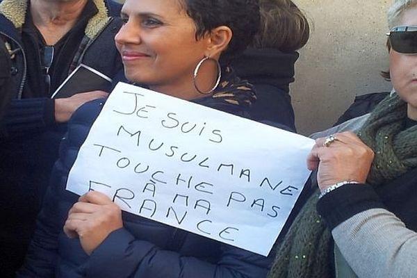 Montpellier - les musulmans dans la marche - 11 janvier 2015.