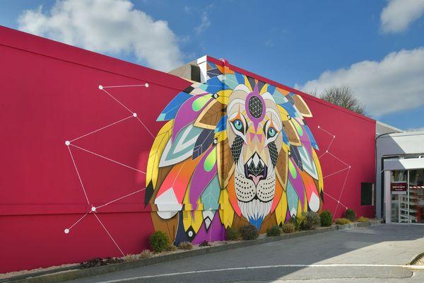 """Fresque """"Biggy Lion"""", Hôtel Mercure Reims"""