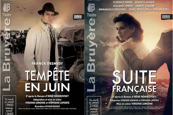 L'affiche des deux spectacles.