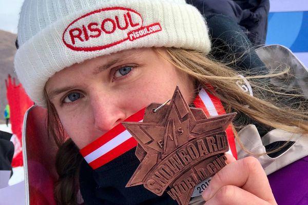 Lucile Lefevre remporte le bronze sur l'épreuve de coupe du monde de slopestyle disputée à Secret Garden (Chine)