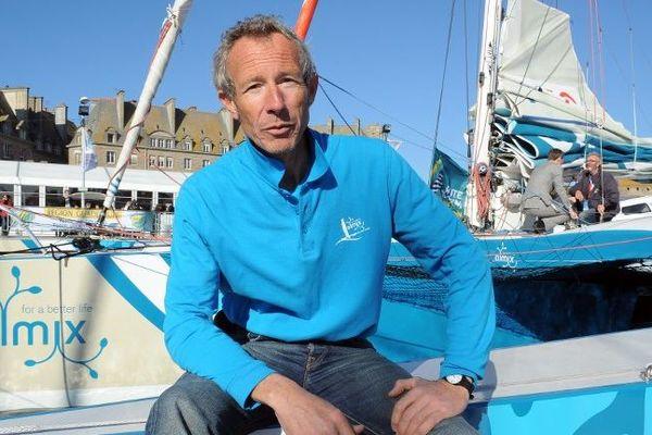 Le skipper Pierre Antoine a remporté la route du Rhum 2018 en catégorie RhumMulti.