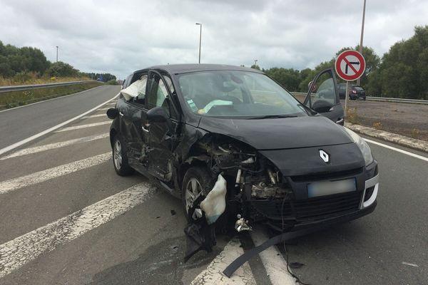 La Renault Scenic accidentée
