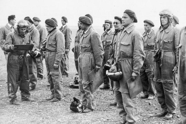 Des jeunes aviateurs polonais en 1939.