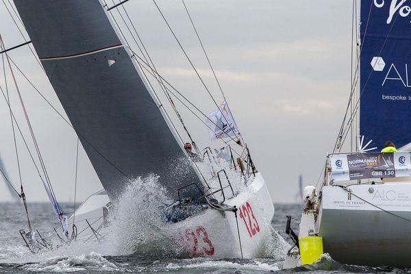 Inscrite au calendrier des voileux classe 40, depuis 2010, la Normandy Channel Race est un des rares épreuves au rendez vous du bassin St Pierre