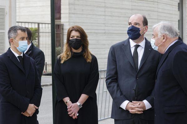 Jean Castex rend hommage à Stéphanie Monfermé aux cotés de plusieurs autres membres du gouvernement