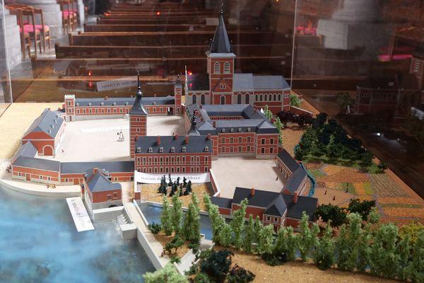 La maquette de l'abbaye de Maroilles avant sa destruction lors de la Révolution
