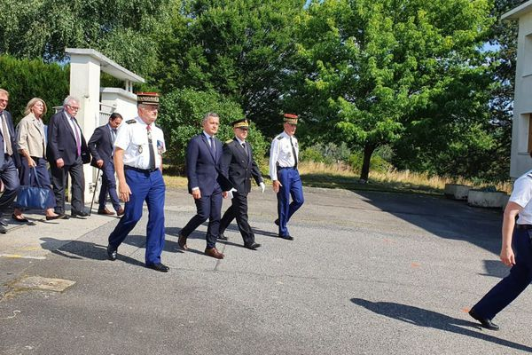 Jeudi 22 juillet, le ministre de l'Intérieur, Gérald Darmanin, est en déplacement dans le Puy-de-Dôme.