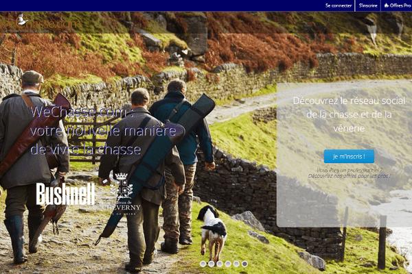 Page d'accueil du réseau social wechasse.com