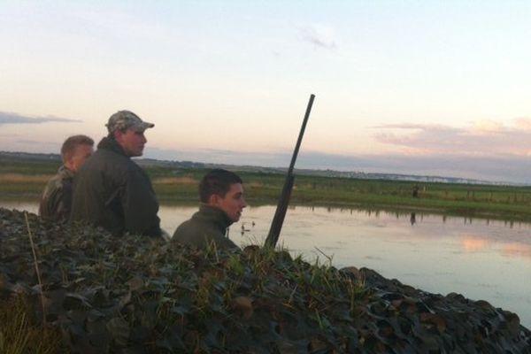 Chasse au gibier d'eau dans les marais