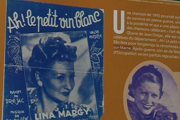 Lina Margy, la première interprète du Petit vin blanc en 1943.