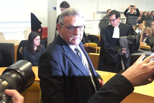René Marratier, l'ancien maire de La Faute-sur-Mer lors du procès en appel à Poitiers an mars 2016