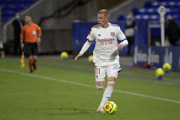 Malvin Bard, à Lyon contre Dijon, le 28 août 2020.