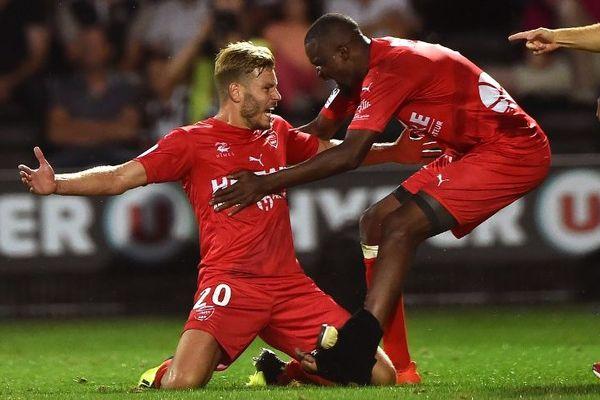Renaud Ripart après son but permettant de revenir au score face à Angers, le 11 août 2018