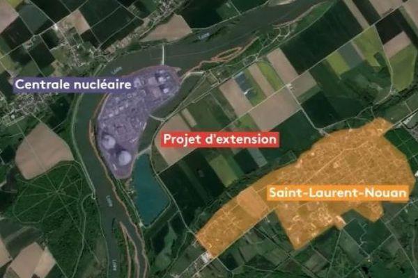 Le projet EPR à St Laurent des Eaux tel qu'il était imaginé par EDF en 2018.
