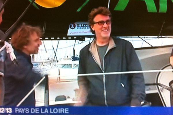 François Cluzet sur les pontons du Vendée Globe