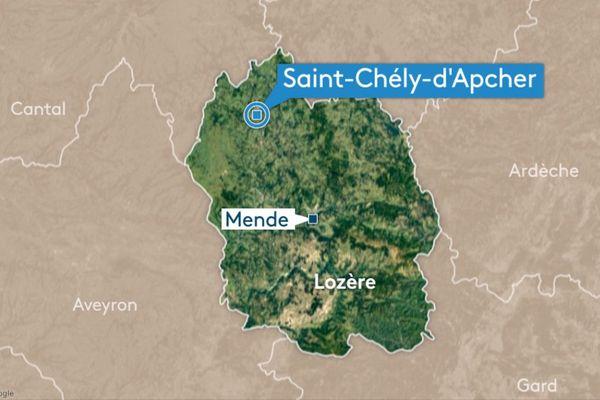 Saint-Chély d'Apcher, Lozère.