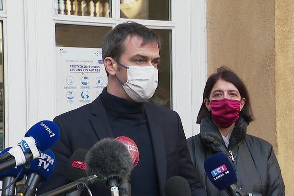 """Olivier Veran: """"Dès lors que les cas positifs sont tracés, nous tenons le bon bout"""" (Metz, 12 février 2021)"""