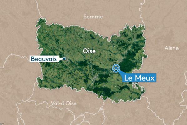 Un automobiliste a perdu la ville sur la RD 200 au Meux, tout près de Compiègne, ce samedi 11 janvier.