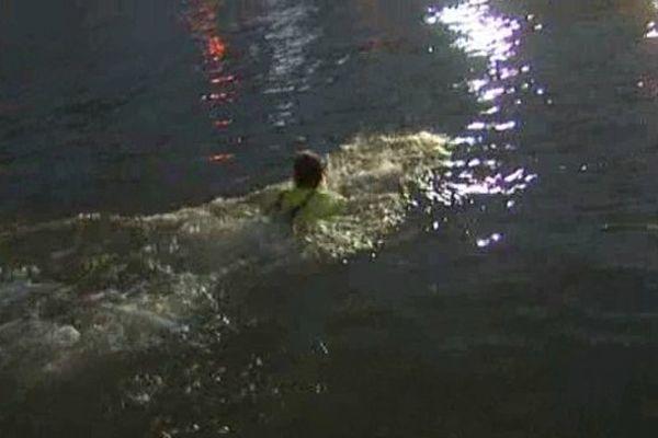 Traversée de l'Oise à la nage