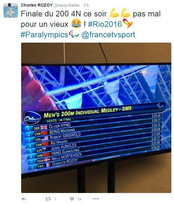 Le champion paralympique des Jeux de Londres 2012 a encore de l'humour !