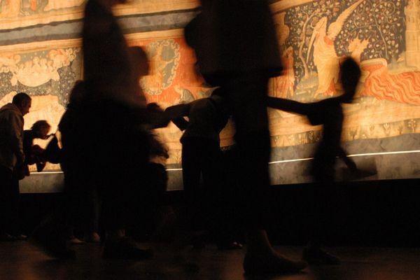 ANGERS LE 18/09/2004 JOURNEES DU PATRIMOINE. TAPISSERIES DE L'APOCALYPSE AU CHATEAU DU ROI RENE A ANGERS (MAINE ET LOIRE).