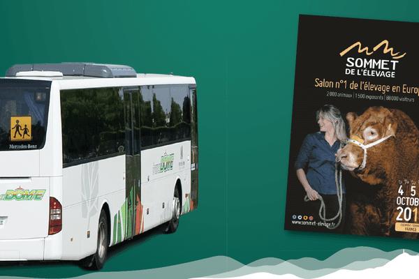 A l'occasion du Sommet de l'élevage de Clermont-Ferrand, des Bus des Montagnes seront déployés dans le Puy-de-Dôme, le mercredi 4 octobre 2017.