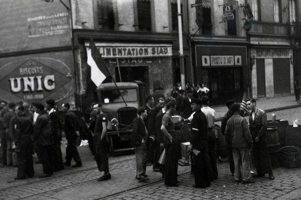 Le Faubourg-Bonnefoy, à Toulouse, le 20 août 1944.