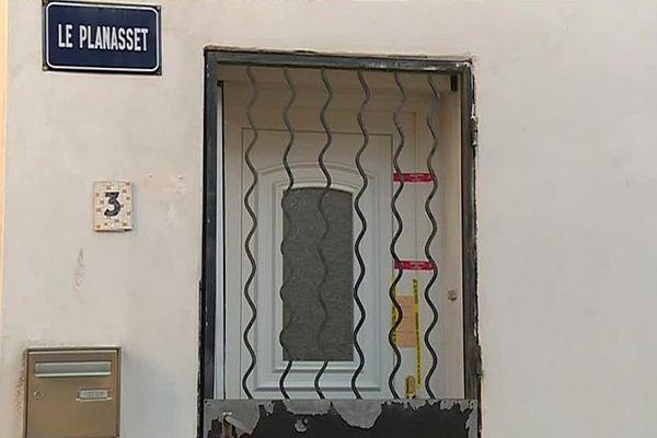 Aigues-Vives (Gard) - la maison de la septuagénaire décédée - 6 décembre 2016.