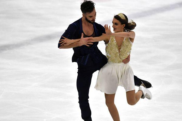 Le couple de patineurs le 16 décembre, lors des championnats de France 2017 à Caen.