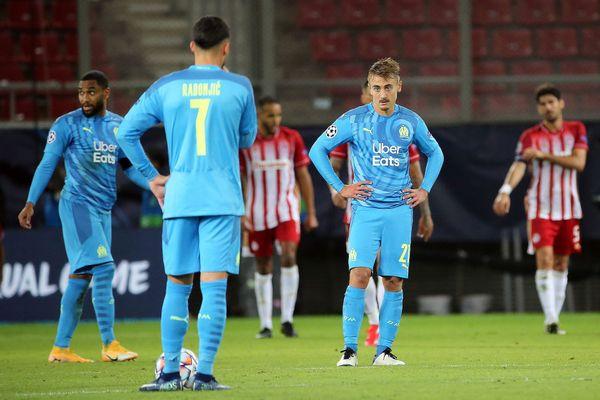 Le désarroi de Valentin Rongier après le but de l'Olympiakos.