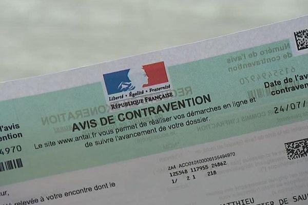 L'avis de contravention reçu par des habitants de Tergnier dans l'Aisne pour avoir klaxonné le soir de la finale de la Coupe du Monde de football - Août 2018