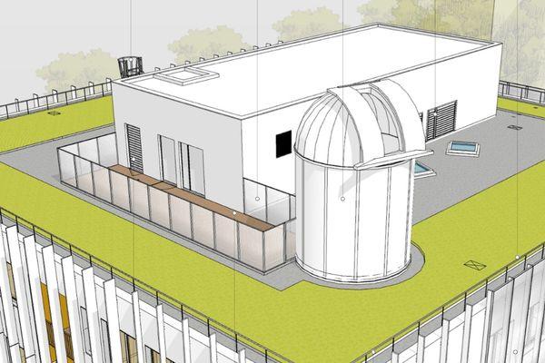 Le projet de l'Observatoire astronomique est censé voir le jour en 2023. Il sera installé sur le toit de la future Maison des Etudiants et des Personnels de l'Université Toulouse III de Paul Sabatier.