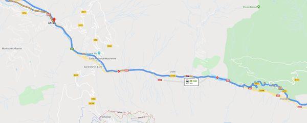 Un tronçon de l'A43 est coupée dans les deux sens entre Saint-Michel-de-Maurienne et Le Freney-Modane