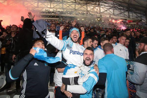 La fan zone du Vélodrome lors de la demi-finale contre Salzbourg.