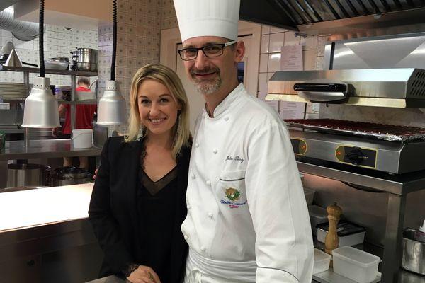 """Sandrine Kauffer et Julien Binz, un couple étoilé du restaurant """"Julien Binz à Ammerschwihr"""