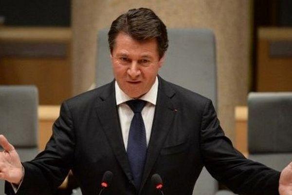 Christian Estrosi lors d'une séance du conseil régional.