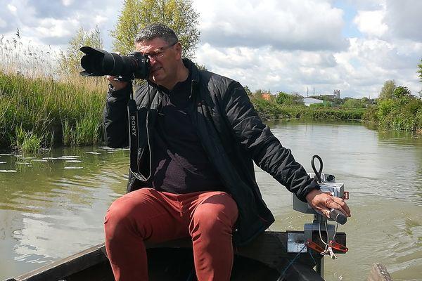 Philippe Hudelle sillonne le marais depuis l'âge de 14 ans. Depuis une dizaine d'années, il y fait des photographies.