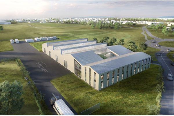 Image de synthèse de la future usine d'Hydrogène de France à Blanquefort