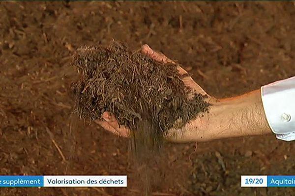 Les couches biodégradables sont transformées en compost au centre des déchets de St Denis de Pile