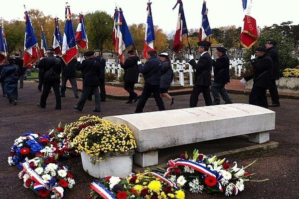 Une cérémonie de commémoration était organisée au cimetière des Péjoces à Dijon, à l'occasion du 94e anniversaire de l'armistice de 1918.