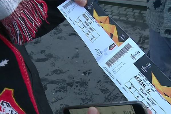 Certains billets pour le 8e de finale de Ligue Europa entre le Stade rennais et Arsenal sont vendus illégalement, notamment via les réseaux sociaux.