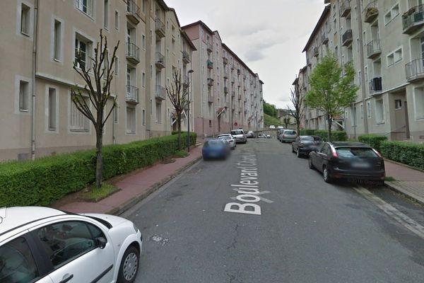 Boulevard Chantalouette à Saint-Etienne (Loire).