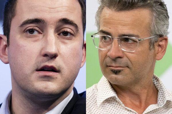 L'ex-président de Tours Métropole et maire de La Riche Wilfried Schwartz (à gauche) et le maire de Tours Emmanuel Denis (à droite)