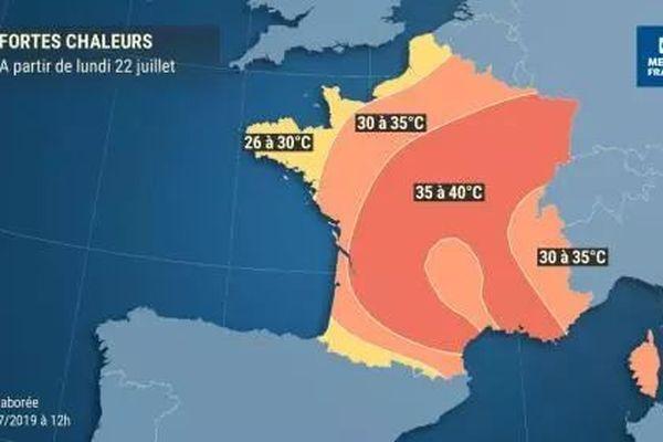 L'Alsace sera particulièrement touchée par les fortes chaleurs la semaine prochaine.
