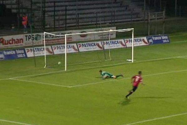 Le premier but marqué par Dembélé à la 36 ème minute de la rencontre