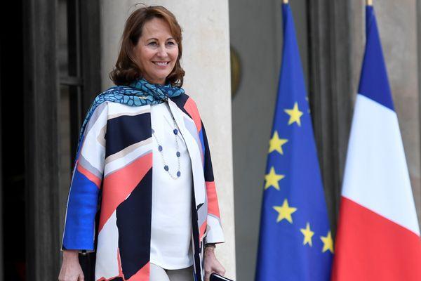 Ségolène Royal après le conseil des ministres du 22 mars 2017 à l'Elysée.