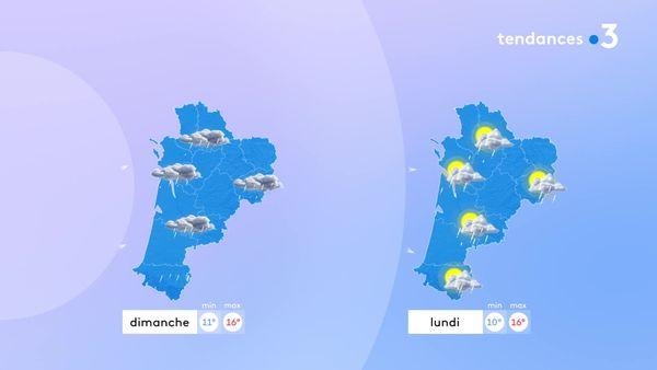 Le temps restera perturbé dimanche et en début de semaine avec des nuages, des averses et des températures un peu fraîches pour la saison... Mais les éclaircies seront de retour lundi...