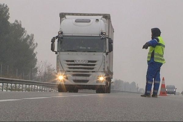 C'est sur l'A64 que l'accident a eu lieu, dans les Hautes-Pyrénées.
