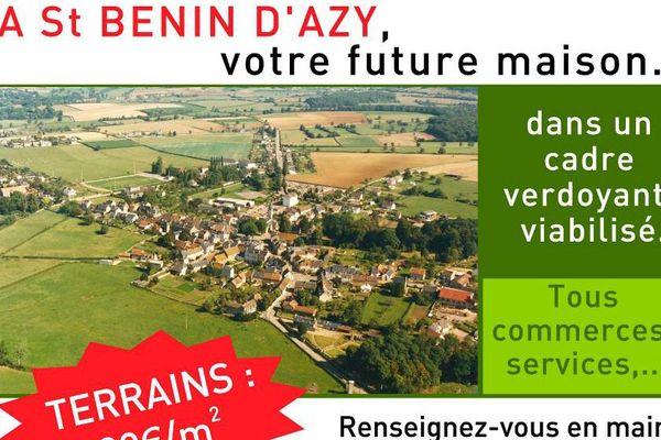 La commune de Saint-Benin-d'Azy dans la Nièvre
